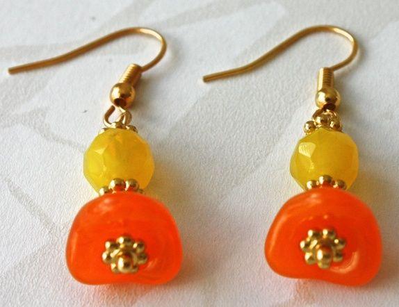 Yello/orange earrings