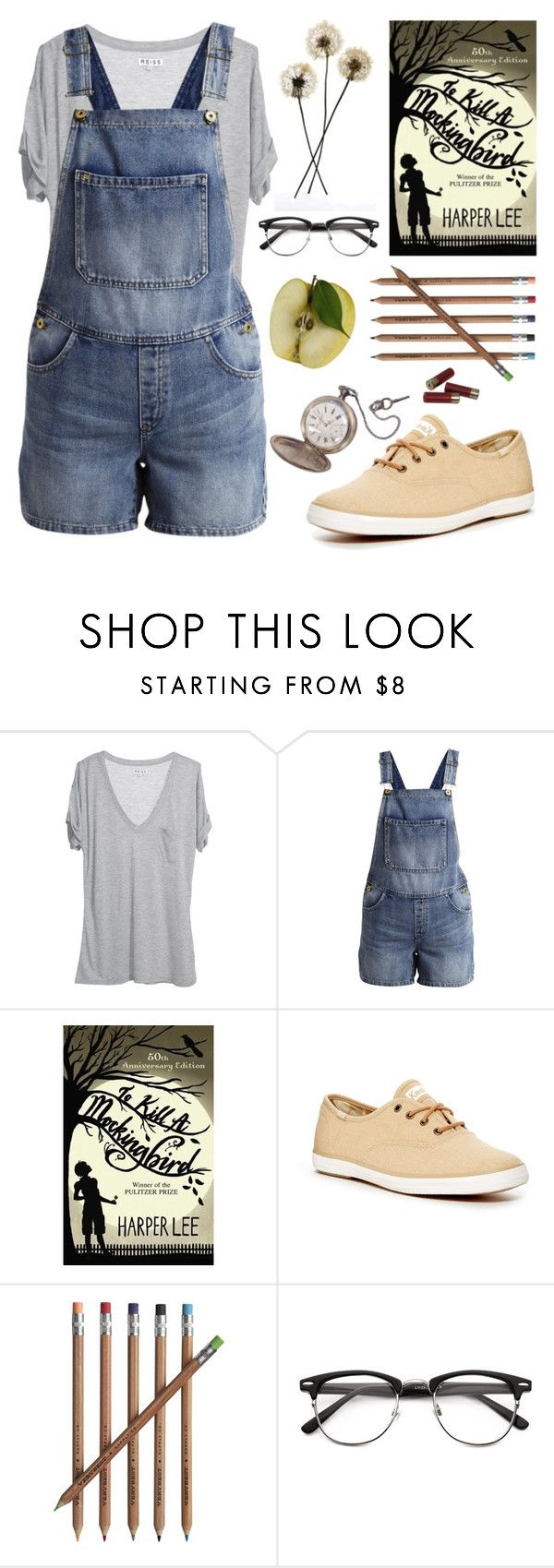 """""""«The one thing that doesn't abide by majority rule is a person's conscience.»"""" by chezamanda ❤ liked on Polyvore featuring Reiss, VILA, Keds, Crate and Barrel and CO"""
