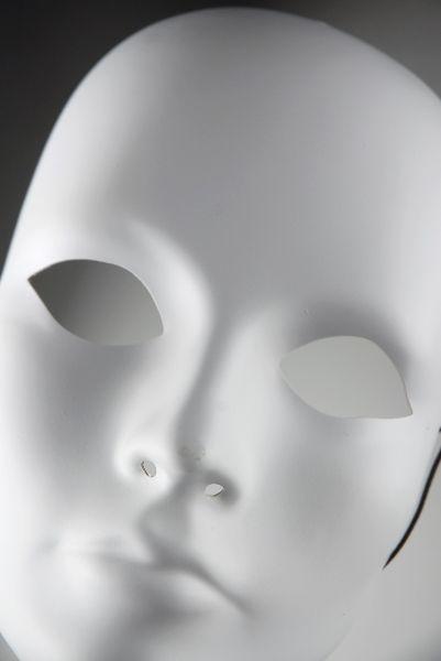 Adult Full Face Blank Female Masks Primed $3.99 each / 3 for $3.50 each
