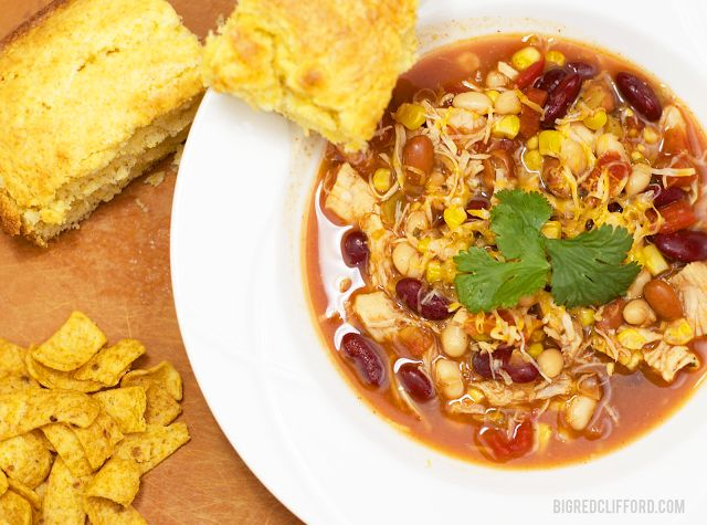 8 can Taco Soup made in a crockpot