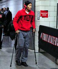 Bulls' Derrick Rose injures right knee in loss to Blazers - NBA News | FOX Sports on MSN