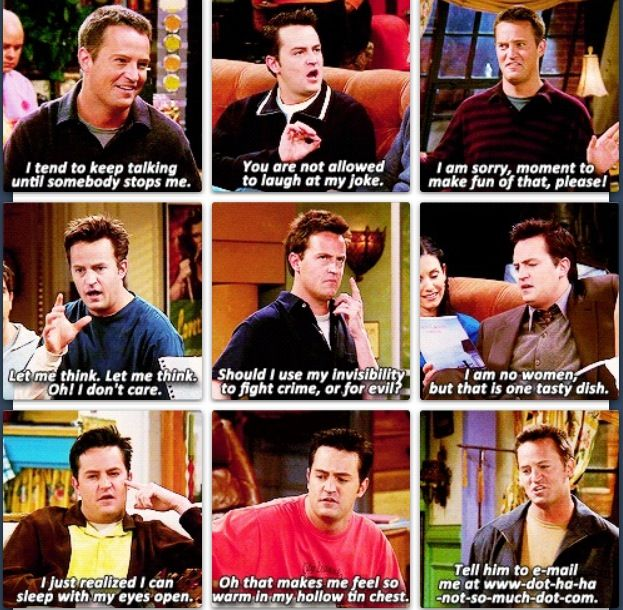 Friends Quotes Tv One Liners: 17 Best Friends Quotes Chandler On Pinterest