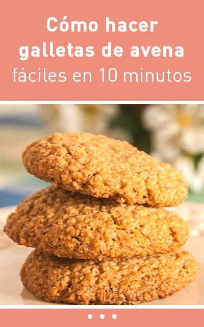 Cómo hacer galletas de avena fáciles en 10 minutos #RecetasSaludables