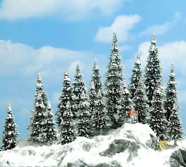 Busch 6466 - 20 Abeti con la neve a 15.73 EUR