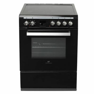 Cuisinière induction 60 cm - 4 foyers - 4 Boosters - Four multifonction à chaleur pulsée - Nettoyage pyrolyse - 64L - Noir