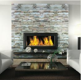 Fireplace Ledgestone/Stacked Stone Slate - traditional - floor #table #stone #fireplace