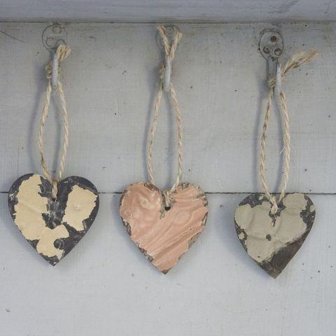 Vintage Hanging Tin Heart
