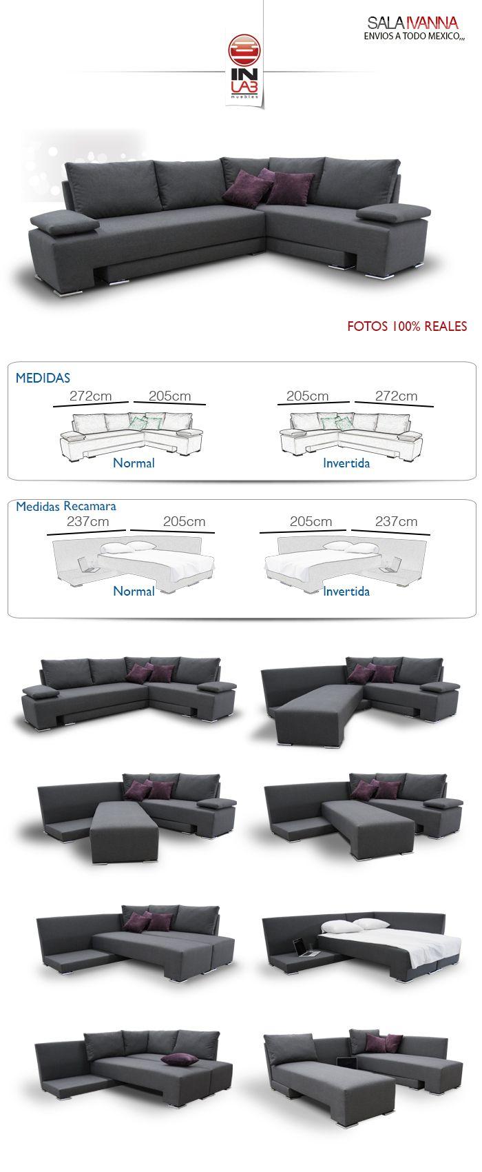 Sala En Esquina Ivanna De Inlab Muebles Es Recamara Y Sofa - $ 6,990.00