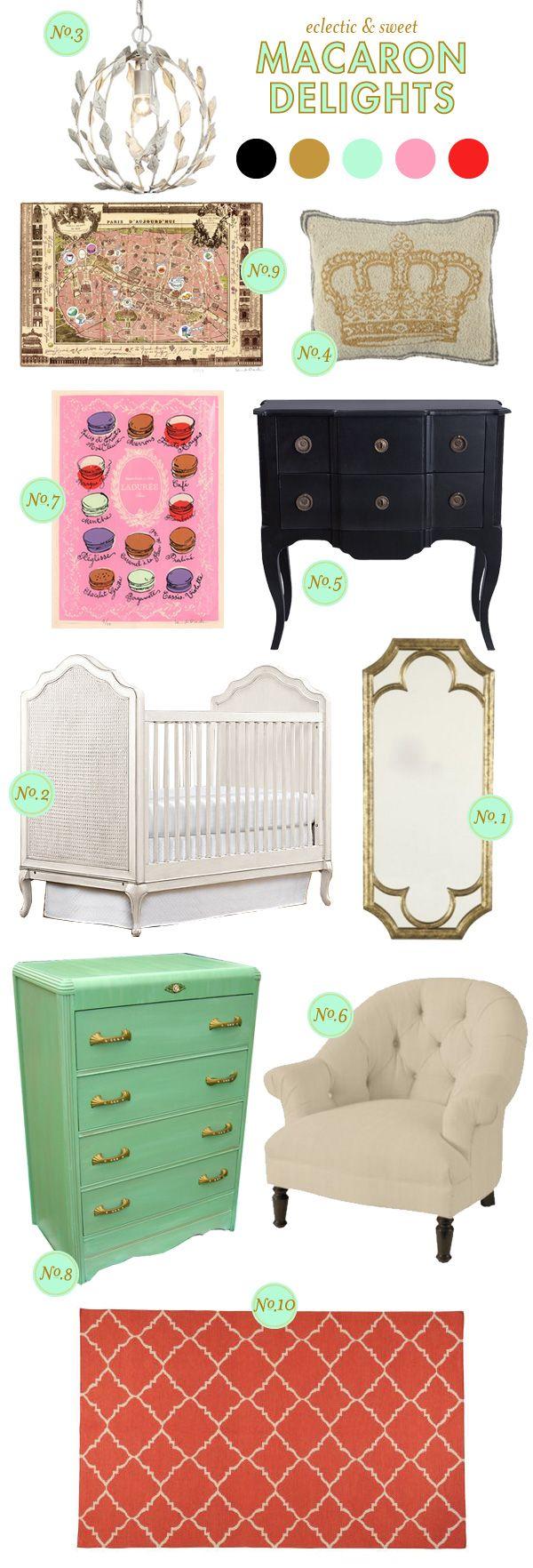 Lay Baby Lay: macaron delights.  Macaron theme nursery for a girl.