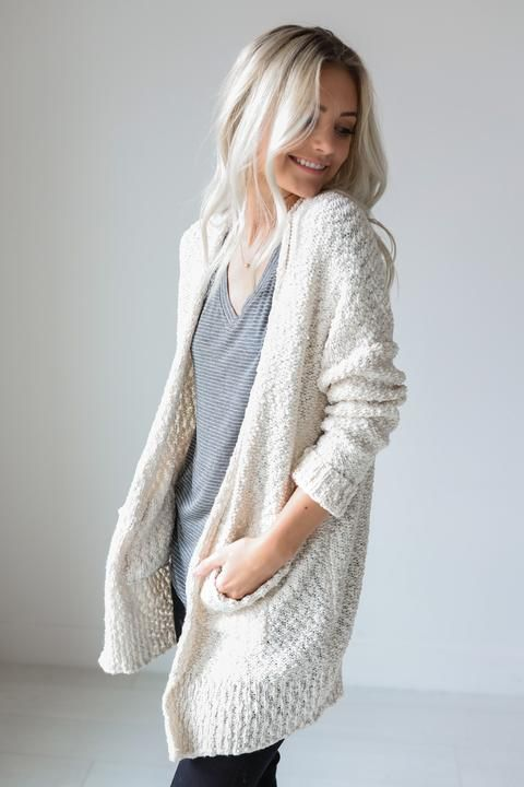 Odette Cream Cardigan from Luca and Grae