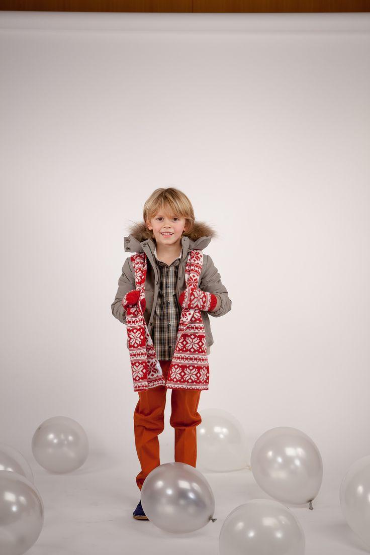 Collection CdeC AW 2014 - Week-ends d'automne. Veste Bucheron Snowy Mastic, pantalon Ejean Ketchup #cdec #lookbook #kidsfashion