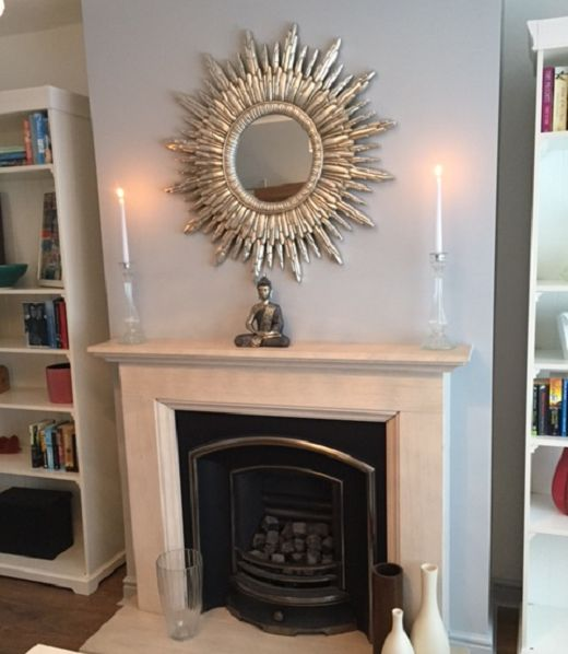 Our Silver Cimiero Round Mirror Featured Above The Fireplace In Living Room On Cowboy Builders Bodge Jobs TV Show