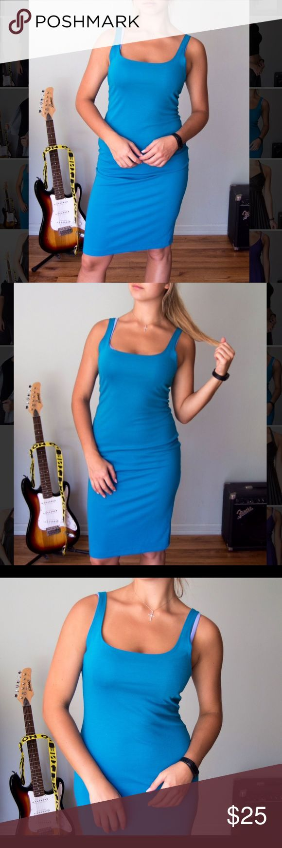 Teal/Blue Skin Tight Dress This blue skin tight dress is perfect for both a casual and fancy night out. Keep it simple or spice it up! Zara Dresses