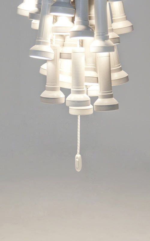 Nerdy-geeky-cool chandeliers, lamps and light fixtures bring