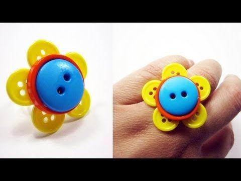 button flower ring