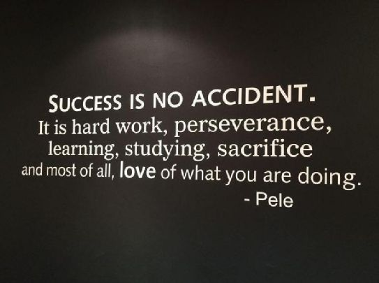 Success Is No Accident It Is Hard Work Business Quotes