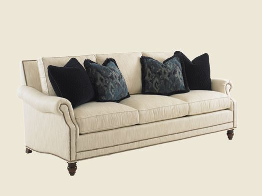 Landara Shoal Creek Sofa With Turned Legs And Nailhead Border By Tommy  Bahama Home At Belfort Furniture