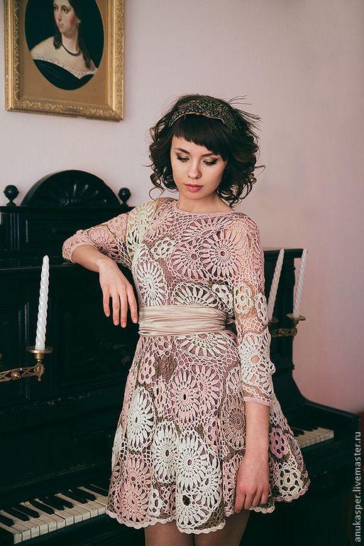 """Платья ручной работы. Ярмарка Мастеров - ручная работа. Купить Платье вязанное """"Амели"""". Handmade. Платье вязаное, Платье красивое"""