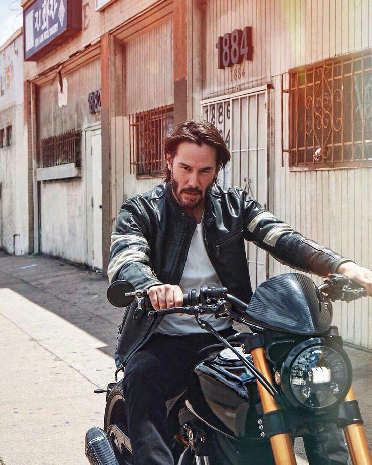 Yummmm ~ Keanu Reeves riding his motorcycle <3                                                                                                                                                                                 More