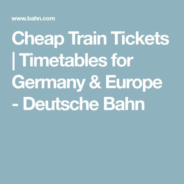 Cheap Train Tickets | Timetables for Germany & Europe - Deutsche Bahn