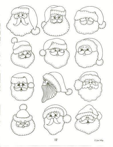 Rostros de Santa...para crear e inventar!
