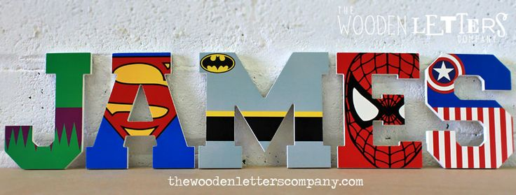wooden super hero letters - Google Search