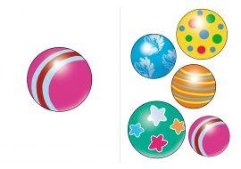 Один мяч - много мячей. Картинка