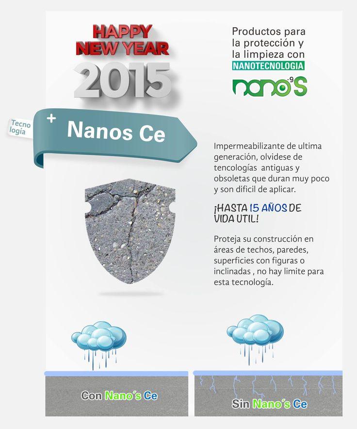 Nanos Ce, el impermeabilizante nanotecnologico altamente efectivo, no permite la filtración de agua, facil de aplicar, amigable con el ambiente