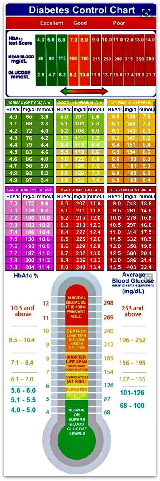 Essential Diabetes Control  Charts --  Please repin.