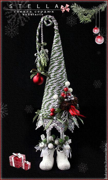 Новый год 2015 ручной работы. Ярмарка Мастеров - ручная работа Елка новогодняя, елочка топотушка, интерьерные композиции. Handmade.