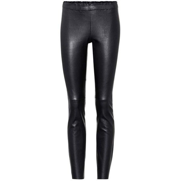 Stouls Jacky Leather Leggings ($1,610) ❤ liked on Polyvore featuring pants, leggings, black, leather trousers, genuine leather pants, stouls, leather pants and leather legging pants