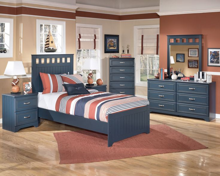 Charming Boys Bedroom Decor Ideas With Delightful Ikea Kids Furniture Set In Navy Blue Color