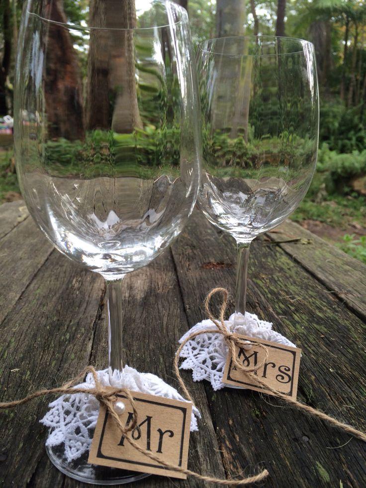 Me and Mrs Wedding glasses
