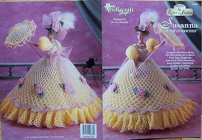 "THREAD crochet GOWN DRESS CLOTHES Patterns 11-1/2"" Barbie-size DOLL *You Choose"
