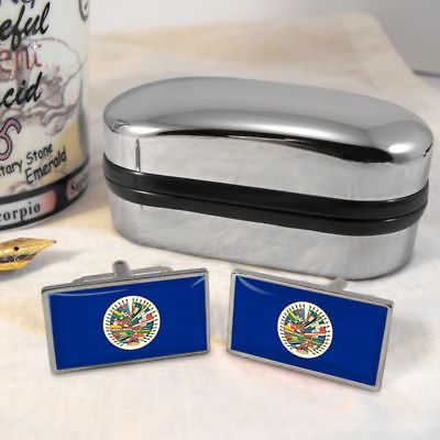 #Organization of american #state flag mens gift #cufflinks,  View more on the LINK: 	http://www.zeppy.io/product/gb/2/370392914585/