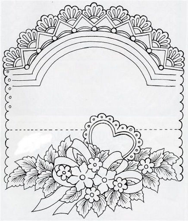 """pattern to print and trace for embossing on vellum: """"Mis Manualidades en Tarjetería Española"""" visit me at My Personal blog: http://stampingwithbibiana.blogspot.com/"""