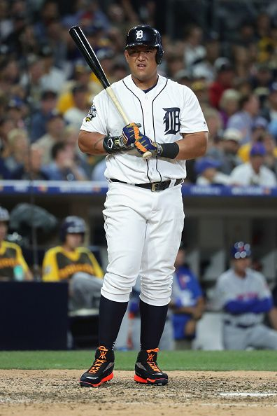 Miguel Cabrera of the Detroit Tigers looks on during the 87th Annual MLB AllStar Game at PETCO Park on July 12 2016 in San Diego California