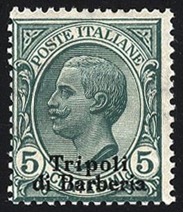 Italian Post Levant Tripoli of Barbary 1909, Soprastampati, 10 valori, Sassone 1-10 / 480,-, Unificato 1-10 Dealer Viennafil Auctions Auction Minimum Bid: 100.00 EUR