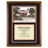 Occidental College Los Angele California Diploma Frame with OXY Art PrintBy Old School Diploma Frame Co.