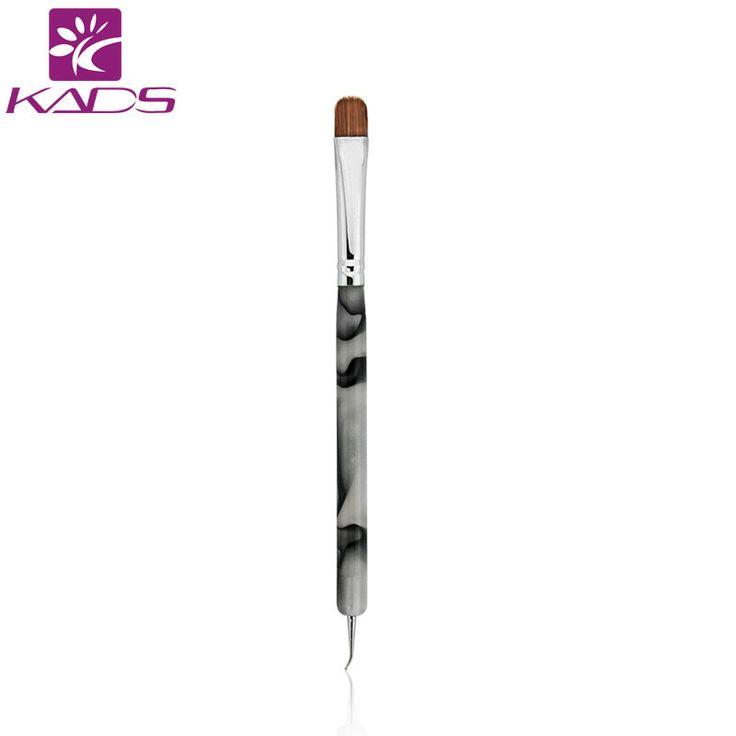 KADS 100% Kolinsky Französisch Sable Pinsel 2 way Acryl UV Gel Nagel Nagel-kunst-bürsten-feder-builder Set nail art pinsel BIEGEN nagel punktierung pen