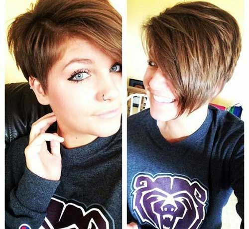 Fabulous 25 Best Ideas About Asymmetrical Pixie Haircut On Pinterest Short Hairstyles Gunalazisus