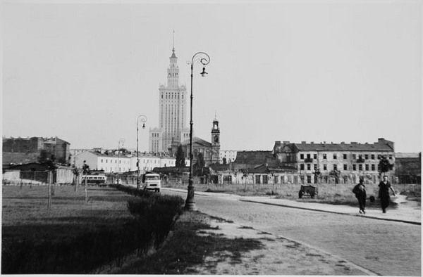 Bogdan Łopieński, Pałac Kultury i Nauki, widok od północy, 1958