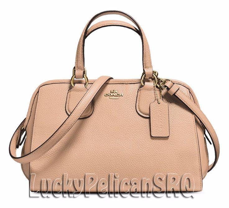COACH 33735 Mini Nolita Satchel Bag Handbag Gold/Beechwood Beige NWT #Coach #Satchel