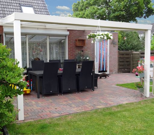 Verandas can be a great way to add a homely feel to your garden, without making it feel too crowded