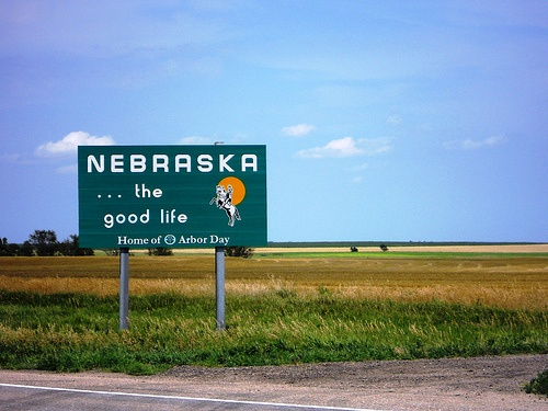 Nebraska. I have this tattooed on my calf in an outline of the state with a corn cob. :)