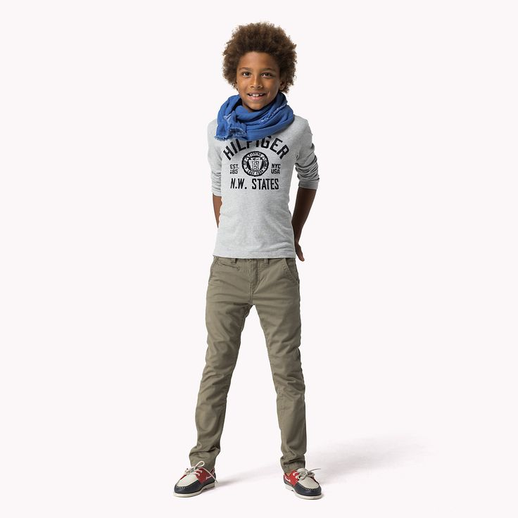 Hilfiger Chino | Official Tommy Hilfiger Shop #kidswear #style #outfit #fall #winter #2014