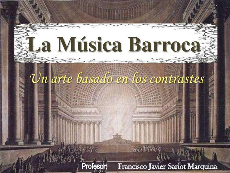Un recorrido por la Música del Barroco partiendo de su contexto histórico y cultural analizando algunos autores y escuelas nacionales.