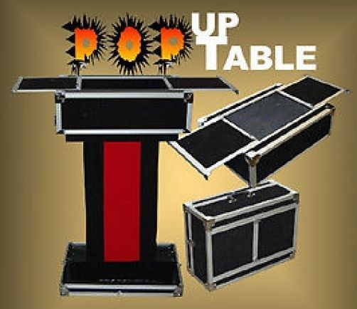 Pop up performers case to table magicians magic trick for Table 6 trick