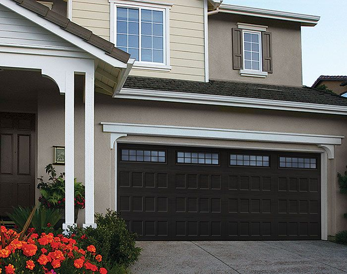 Black Garage Door Roof Amp Paint Carriage House Garage
