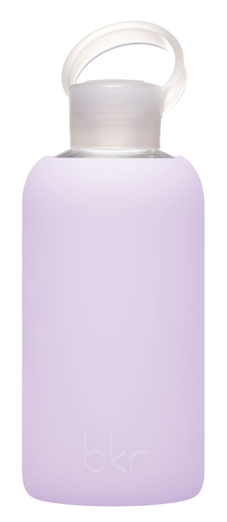 "White Apothecary | bkr 500 mL / 16 oz glass water bottle in ""Fluff"" 